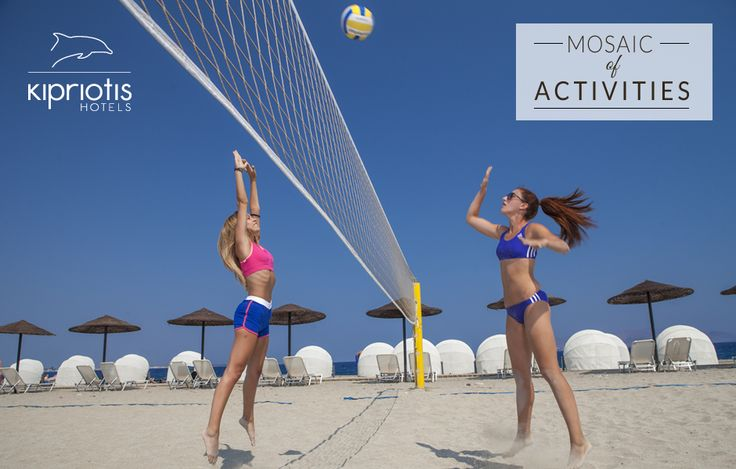 Want to stay active on your holidays? How about a game of beach volley at Kipriotis Hotels? ‪#‎KipriotisHotels‬ ‪#‎MosaicOfActivities‬ ‪#‎LoveSports‬ ‪#‎ShareTheFun‬ #Greece #Greek #island http://www.kipriotis.gr/en