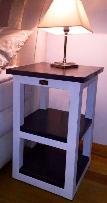 table, nachtkonsole boxspringbett, stahl und holz