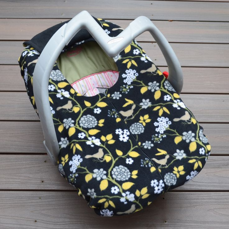 Birds and Flowers Baby Car Seat Cover Modern Baby Shower Gift Car Seat Canopy Blanket with Elastic and Zipper by Sophie Marie Designs & 15 best kids crafts images on Pinterest   Baby car seats Baby ...