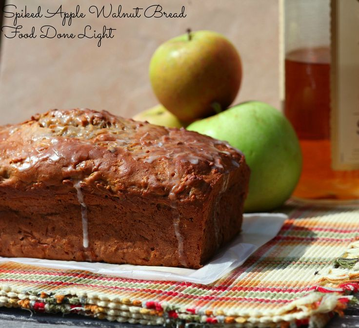 Great gift! Healthy, low calorie and fat - Spiked Apple Walnut Bread www.fooddonelight.com