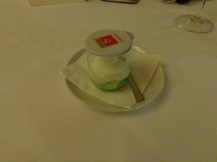 Apple sorbet with celery, purée @ Restaurace Bellevue