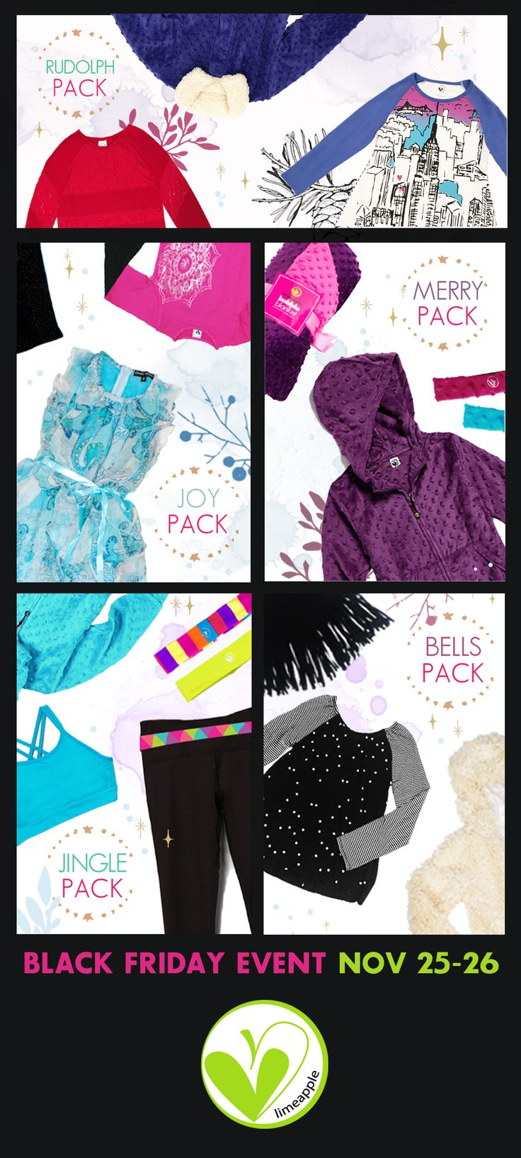 Exclusive gift packs for girls from the #1 girls tween brand Limeapple