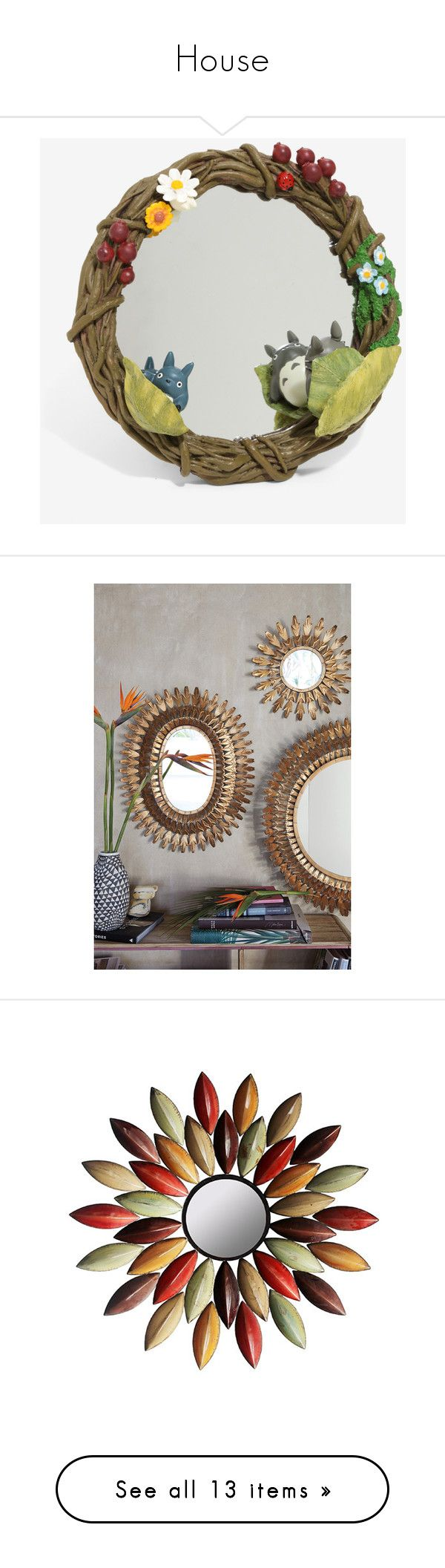 """""""House"""" by selflover ❤ liked on Polyvore featuring home, home decor, mirrors, studio ghibli, bronze, anthropologie, bronze mirror, anthropologie home decor, anthropologie mirror and bronze home decor"""