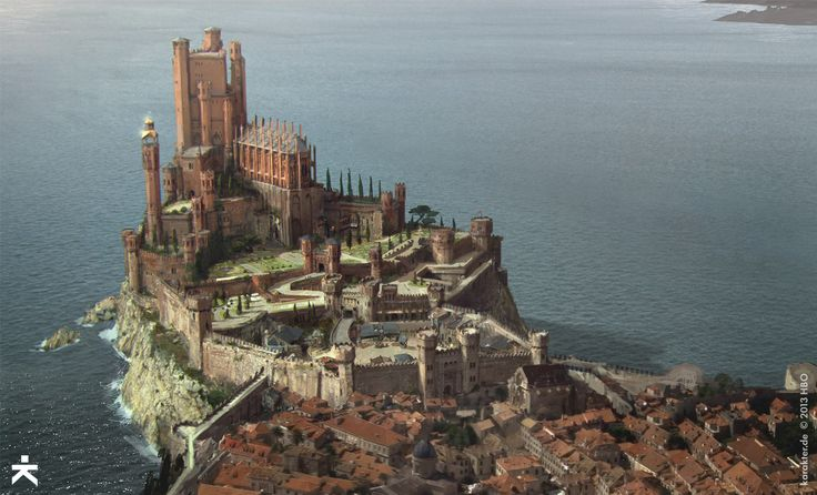 The Red Keep, Kings Landing — Game of Thrones season 4 concept art from Karakter Design Studio
