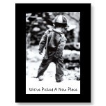 Funny...We've Moved Postcard (We've Picked a New Place) by KissMeIm -: Picture, Art, Funny, Things, Kids, Boy, Photo