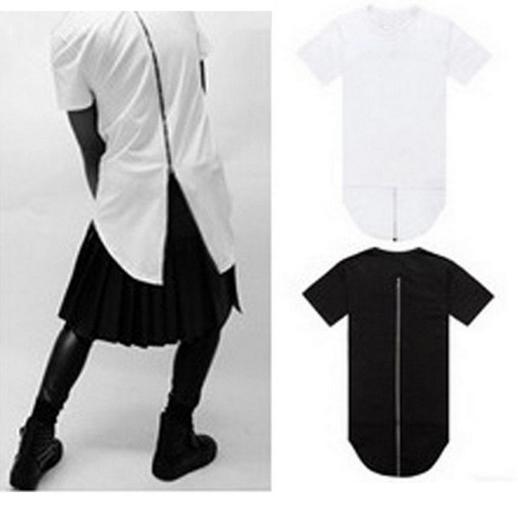 Find More T-Shirts Information about Men long T shirt back zipper Black White Hip Hop Longline T Shirts Extended Tee Shirt Homme Oversized Short Sleeve Streetwear,High Quality T-Shirts from Moomphya Apparel Flagship Store on Aliexpress.com