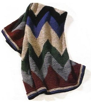 Free Knitting Pattern - Afghans & Blankets: Southwestern Throw