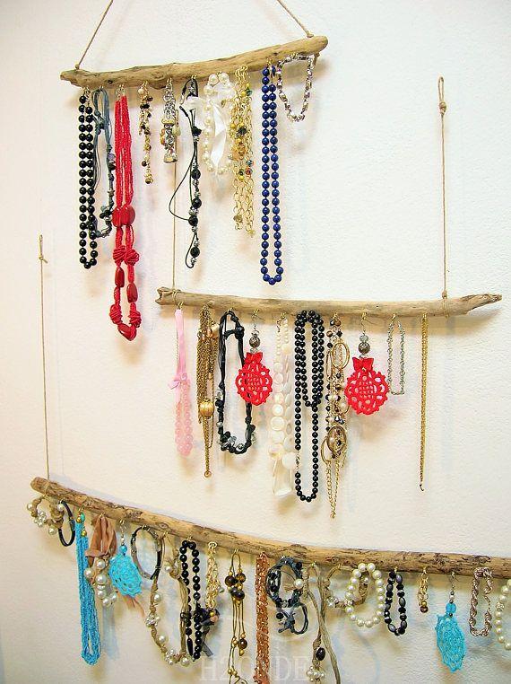 Porta gioielli legno bracciali espositore shabby collane muro