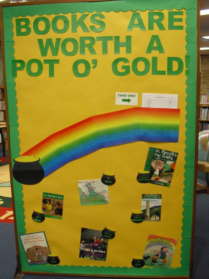 Bulletin Board - St. Patrick's Day | Library Ideas | Pinterest