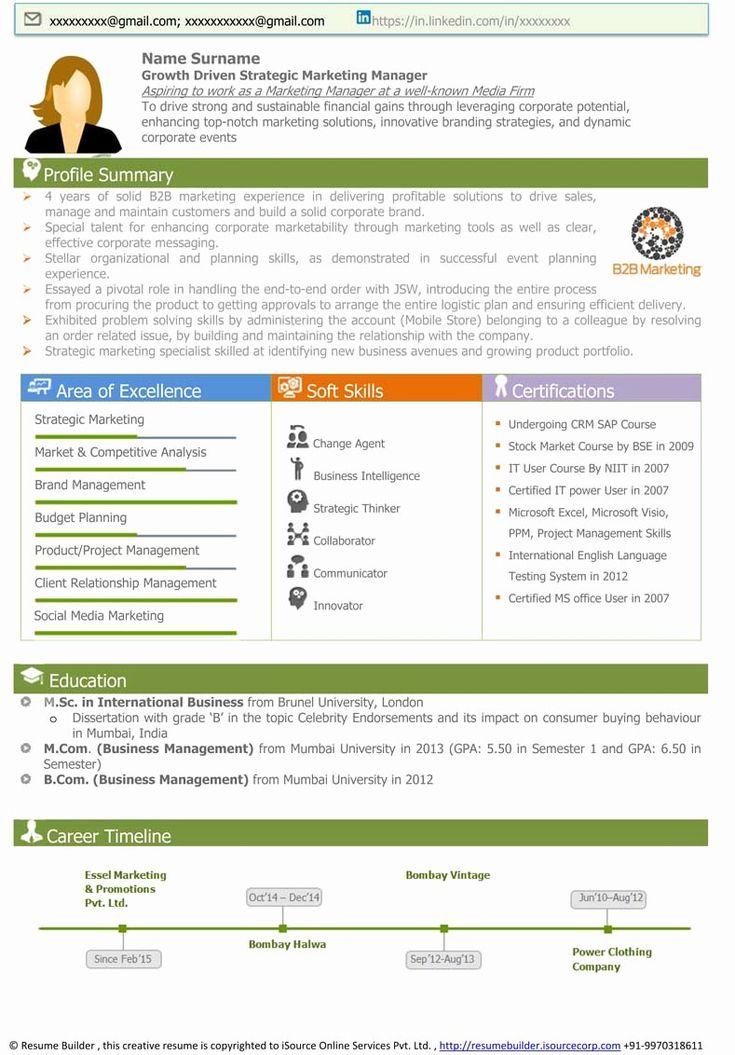 Visual Resume Template Free Elegant Visual Resume