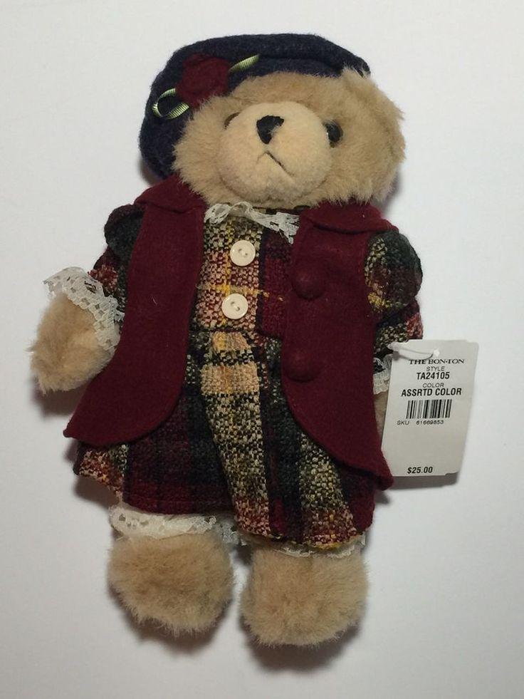 Bon Ton Toys Plush Teddy Bear 11 Inch Rare Vintage Retails For $25.00 (PB)  | eBay
