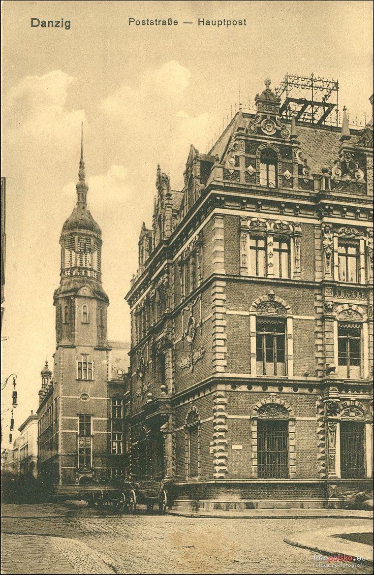 Poczta Polska Urząd Pocztowy Gdańsk 50, Gdańsk - 1908 rok, stare zdjęcia