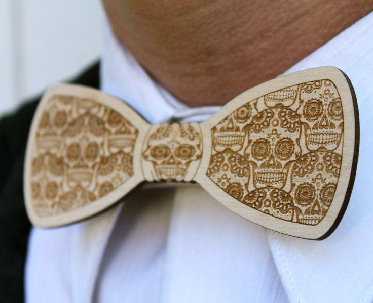 Wood Bow Tie Laser Cut for Men or Women. $15.00, via Etsy.