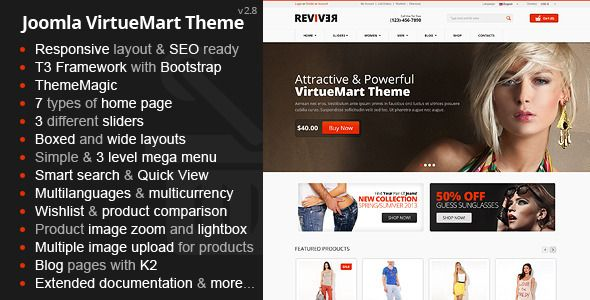 CMS Themes – Reviver – Responsive Multipurpose VirtueMart Theme | ThemeForest