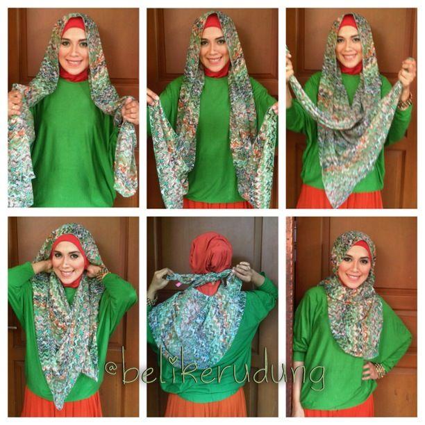 "Hijab tutorial from ""Beli Kerudung"" Facebook fanpage ;)"