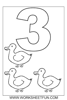 Number coloring worksheets