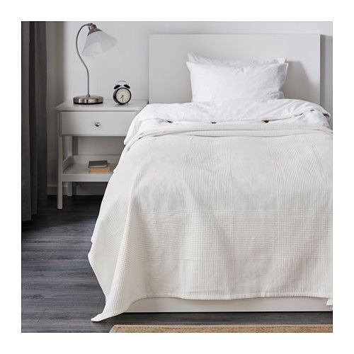 "IKEA - INDIRA, Bedspread, 59x98 "", , This woven cotton bedspread gives your bed a vibrant, decorative look and extra warmth and comfort for you."