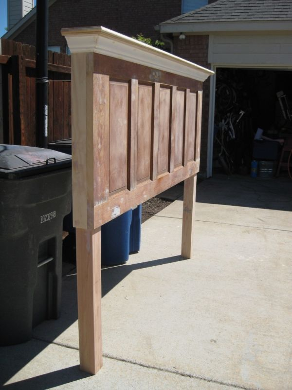 headboard made from old door for king or queen size bed image by photobucket