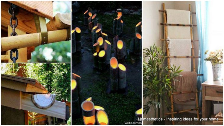 Yaratıcı DIY Bambu El Sanatları ile Eviniz dekorasyonumuzu