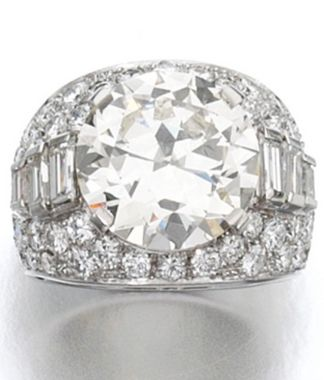 diamond ring bulgari 1930s set to the centre with a circularcut