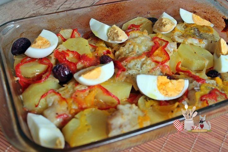 File de peixe assado no forno
