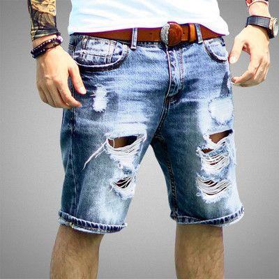 Men's Shorts, Casual Length Bermuda Hole Summer