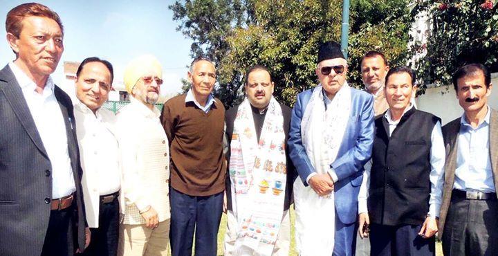 Deputation of Leh people with NC president Dr Farooq Abdullah at Jammu.