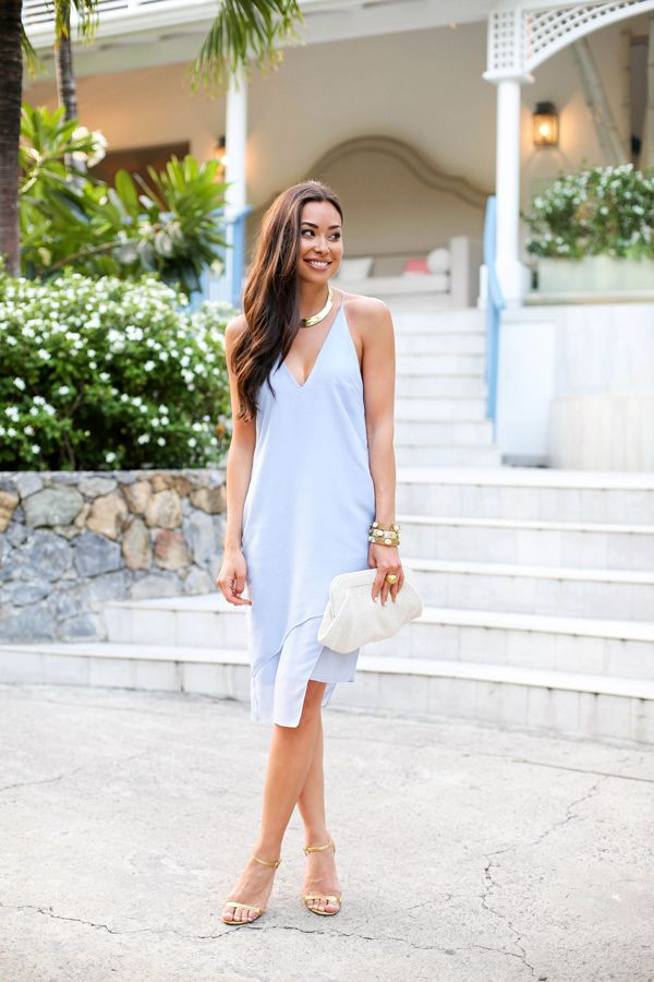 Evenings at Cheval Blanc - Camilla and Marc dress Michael Kors heels  // Robert Lee Morris necklace Bracelets  // Lauren Merkin bag Monday, June 8, 2015