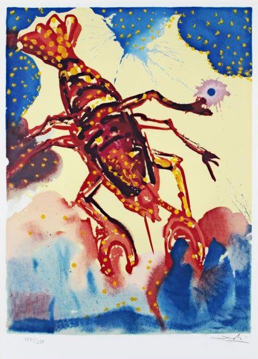 Les signes du zodiaque par Salvador Dali   les 12 signes du zodiaque par salvador dali cancer