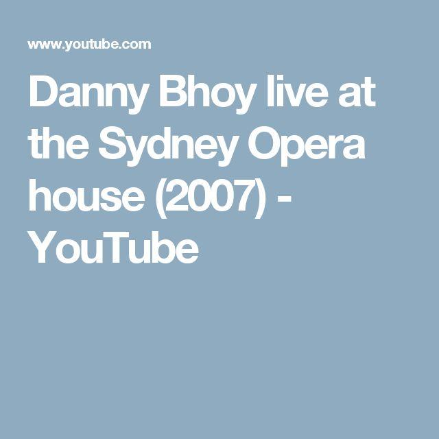 Danny Bhoy live at the Sydney Opera house (2007) - YouTube