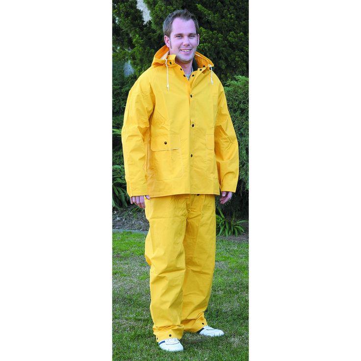 Yellow rain suit large 2 pc rain suit safety clothing