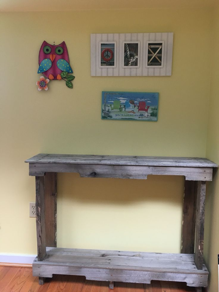 Pallet wood console table diy | Diy console table, Wood ...