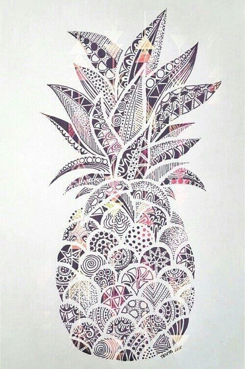 Pinapple white and black от LuXuRyStYlEs️   We Heart It