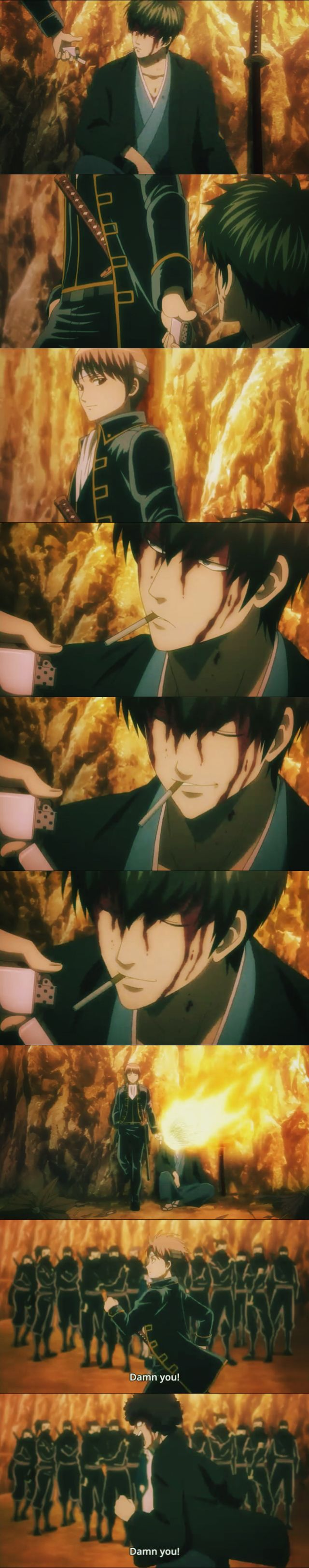 "I thought this was supposed to be a ""touchy"" Sougo-Hijikata, moment. But I was proven wrong afterwards. :)))  Gintama Ep. 307 - Shogun Assassination Arc"
