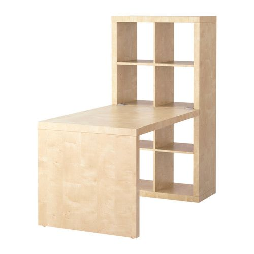 Ikea Expedit desk and bookshelf - great desk for a kid's room (use desk with legs instead of solid end)