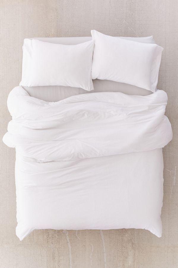 T Shirt Jersey Duvet Cover White Duvet White Duvet Covers Duvet Bedding