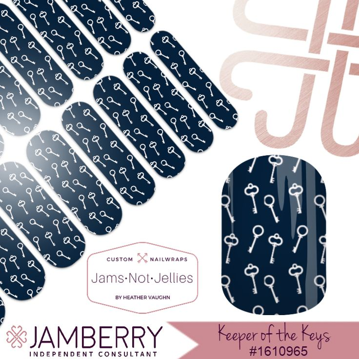 Keeper of the Keys • Jamberry custom NAS Nail Art Design • Keep Collective Designers! Wear your business right at your fingertips like I do! Such an amazing conversation starter!