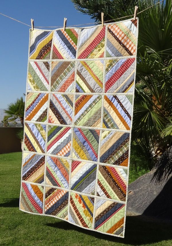 Quilt-As-You-Go Scrappy Baby Quilt via Twinkle and Twine