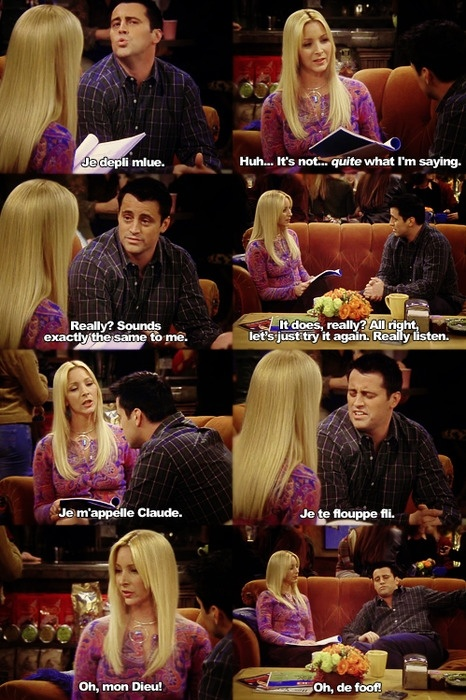 Joey learns french