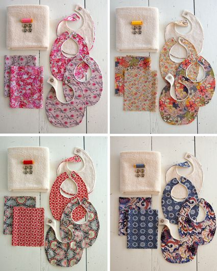 Purl Soho's Liberty Baby Bib Kits! - The Purl Bee - Knitting Crochet Sewing Embroidery Crafts Patterns and Ideas!