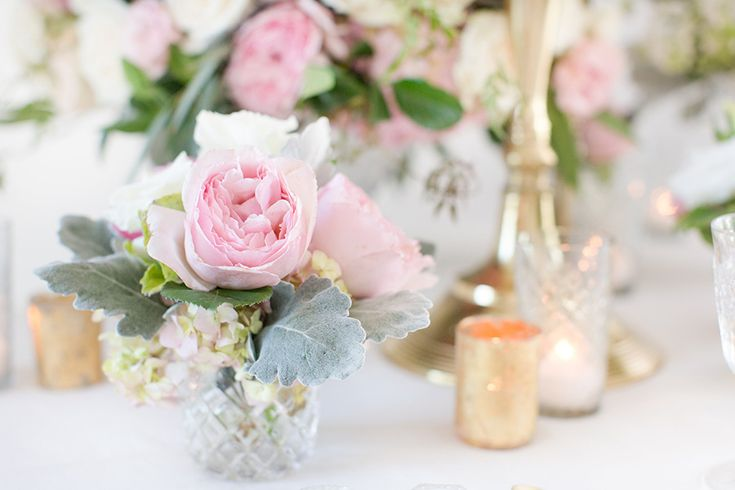 Sweet, pretty pastel wedding ideas always bring out the girly-girl side of us withsublime feminine details and a Kelly Faetanini blush gown.
