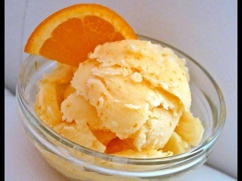 Rico helado de naranja valenciano con un toque argentino