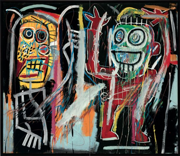 Жан-Мишель Баския (1960—1988), американский художник. Картина «Затуманенные головы» (1982). Верхняя планка оценочной стоимости: $35 000 000. Продана за $48 843 750.