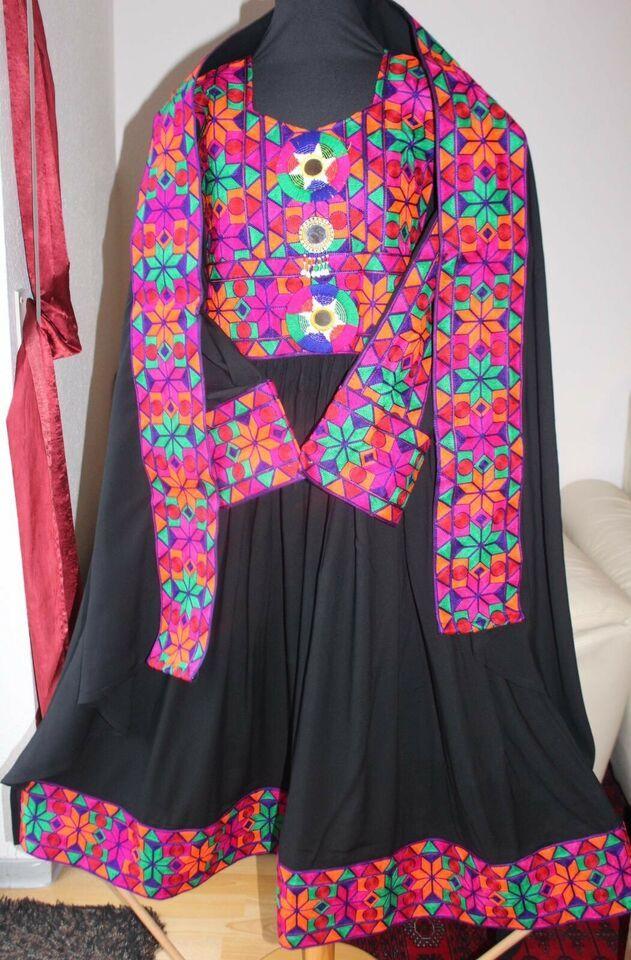 schwarz pinkes afghanisches kuchi kleid in nordrhein westfalen