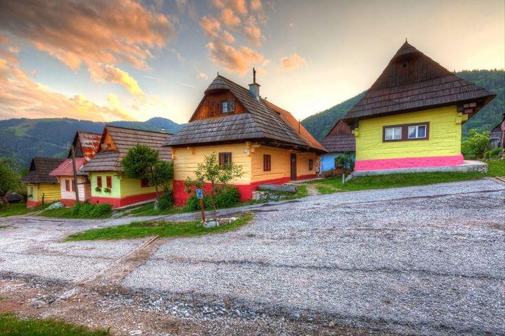 Vlkolinec village near town of Ruzomberok, Slovakia. UNESCO World Heritage site.