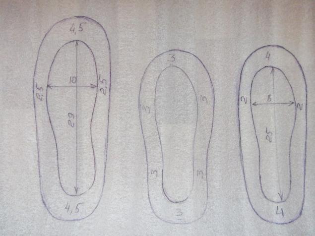 Эксперимент и его результат. Три одинаковые пары тапок на разных шаблонах. - Ярмарка Мастеров - ручная работа, handmade