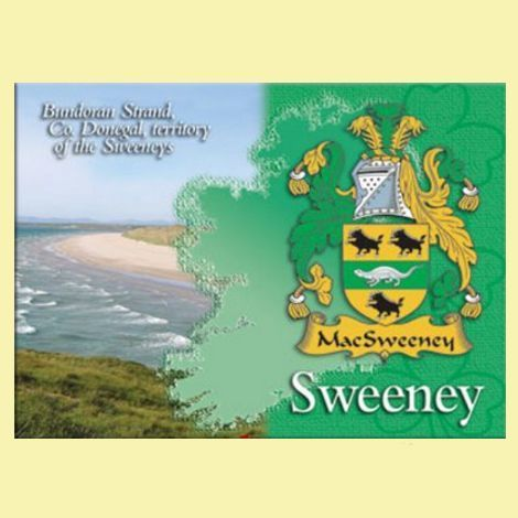 For Everything Genealogy - Sweeney Coat of Arms Irish Family Name Fridge Magnets Set of 2, $12.00 (http://www.foreverythinggenealogy.com.au/sweeney-coat-of-arms-irish-family-name-fridge-magnets-set-of-2/)