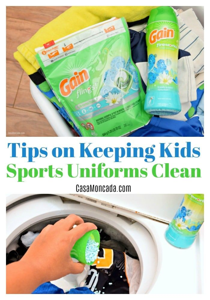 Tips On Keeping Kids Sports Uniforms Clean Kids Sports Cleaning Diy Cleaning Hacks