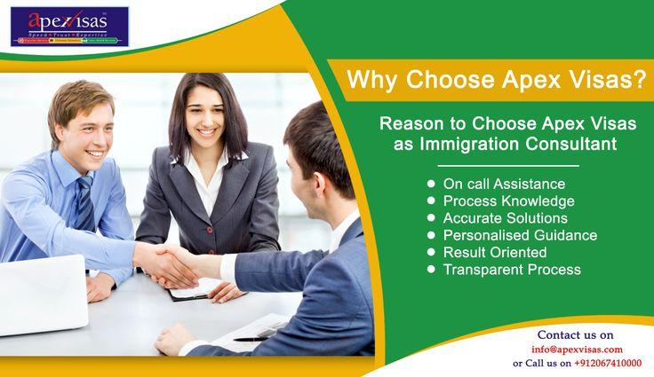 Reasons To Choose ApexVisasasImmigrationConsultant.