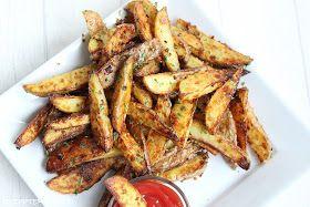 Gebackene Knoblauch - Parmesan - Kartoffel - Wedges :)   - dass sind unsere Lieblings - Pommes!   Sie sind knusprig, käsig, knoblauchlasti...